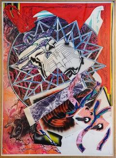 Frank Stella, The Waves: Squid, Silkscreen, Lithograph, 1989