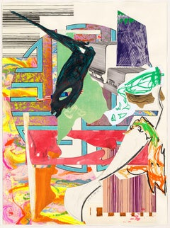 Frank Stella, The Waves: The Quarter-Deck, Lithograph, 1989