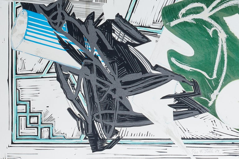 Going Aboard - Gray Print by Frank Stella