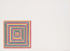 Line Up, Print, Lithograph, Abstract, Contemporary by Frank Stella