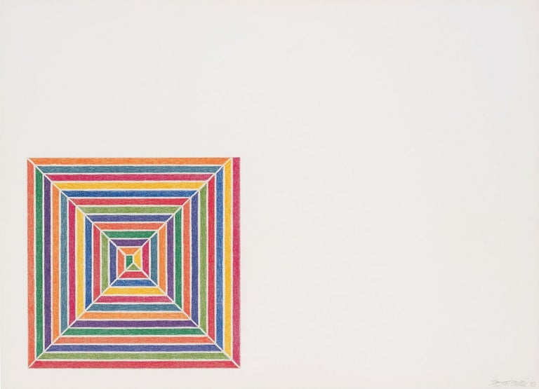 FRANK STELLA Line Up, 1973 Lithograph in colours, on J.Green mould-made paper Signed, dated and numbered from the edition of 100 From Jasper's Dilemma Printed by Cook, Hammond and Kell Lithographers, London Published by Petersburg Press Ltd.,