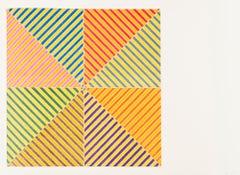 Sidi Ifni -- Offset Lithograph, Minimalism, Contemporary Art by Frank Stella
