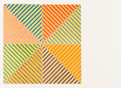 Sidi Ifni -- Offset Lithograph, Minimalism, Contemporary Art by Frank Stella