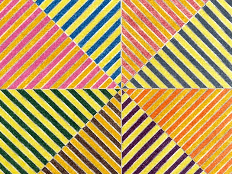 Sidi Ifni, Sidi Ifni (from Hommage à Picasso), Abstract Geometric, Minimalism - Print by Frank Stella