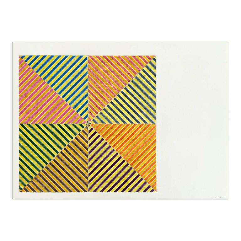 Frank Stella Interior Print - Sidi Ifni, Sidi Ifni (from Hommage à Picasso), Abstract Geometric, Minimalism