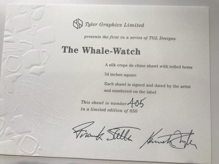 The Whale Watch - Gray Abstract Print by Frank Stella