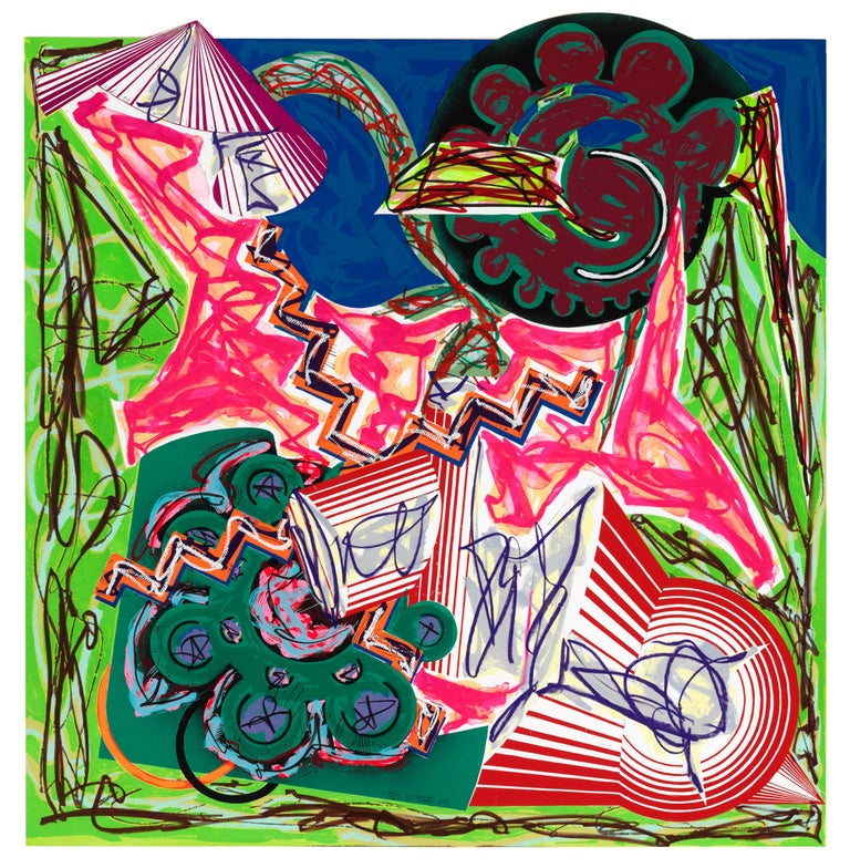Frank Stella Abstract Print - Then Came an Ox and Drank the Water
