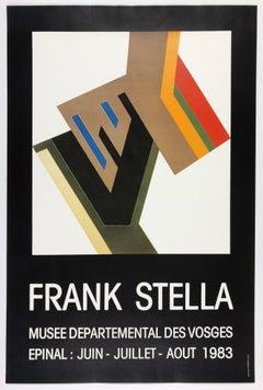 Vintage Frank Stella poster Musee des Vosges  (Konskie II, Polish village)