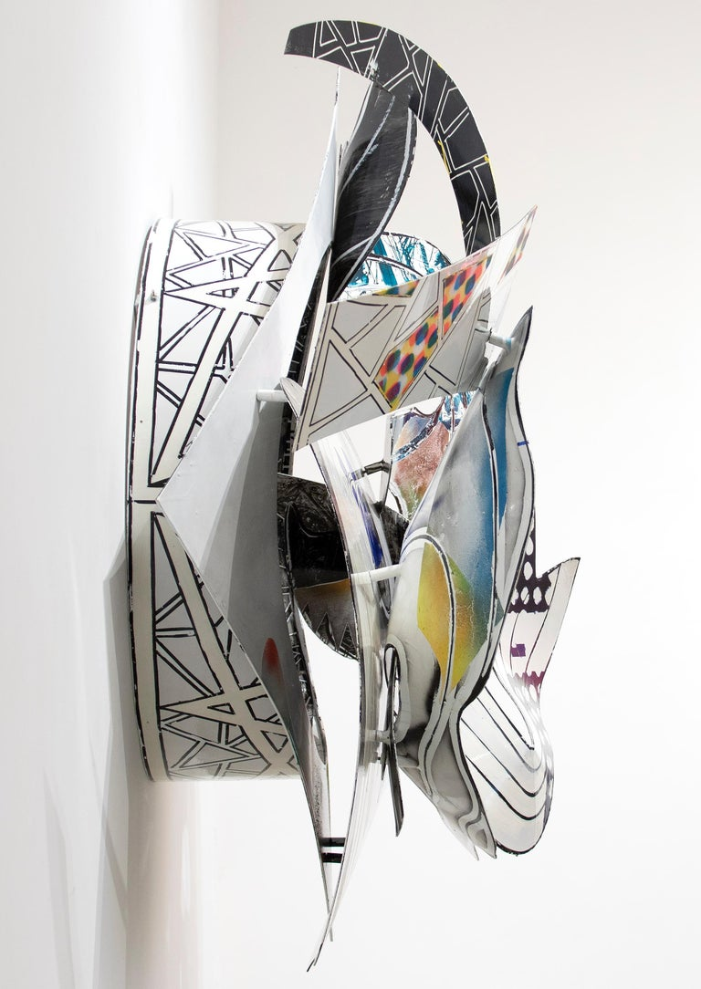 A sculpture by Frank Stella.