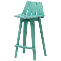 Frank Stool in Light Teal Finish by Alessandra Baldereschi & Mogg