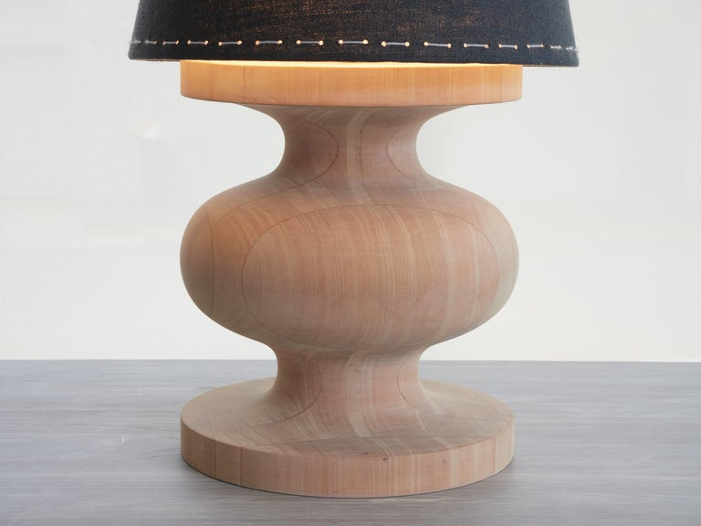 Organic Modern Frank Table Lamp by Wende Reid, 21st Century, Handmade in Australia For Sale
