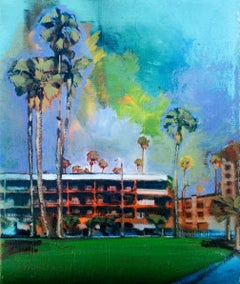 Bayside Hotel, Painting, Oil on Canvas