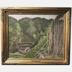 Landscape with Wooden Train Trestle