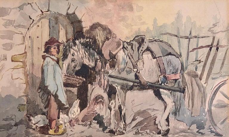 Moments Rest, 1885 Frank Vincent DuMond - American Impressionist Painting by Frank Vincent Dumond