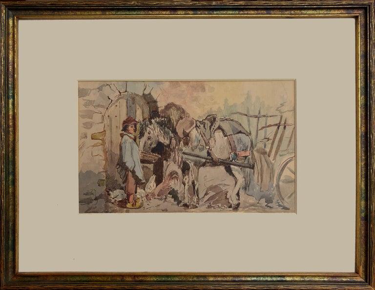 Frank Vincent Dumond Figurative Painting - Moments Rest, 1885 Frank Vincent DuMond