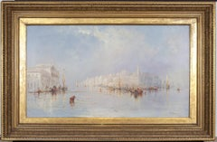 English Iate 19th century, Impressionist View on the Grand Canal, Venice, Italy