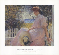 "FRANK WESTON BENSON Eleanor 28"" x 30"" Poster - 2002 Impressionism Pink"
