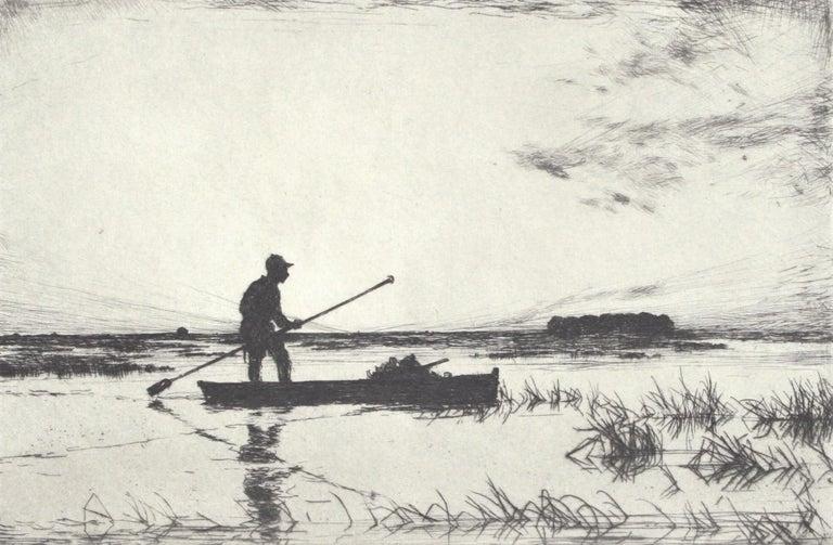 The Punter. - American Modern Print by Frank Weston Benson