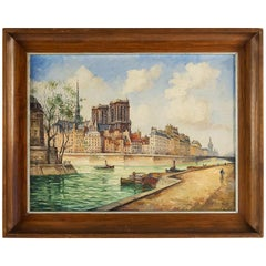 Frank Will, Oil on Canvas, Notre-Dame de Paris, circa 1926