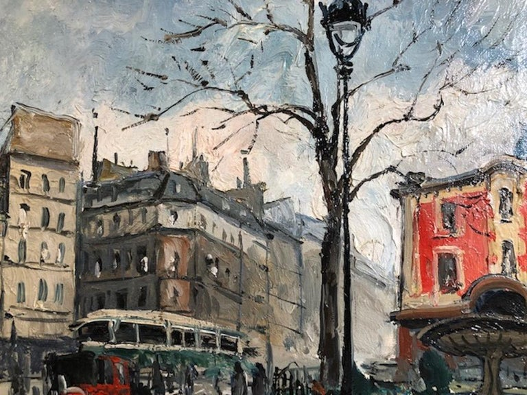 Place Pigalle - Painting by Frank Will