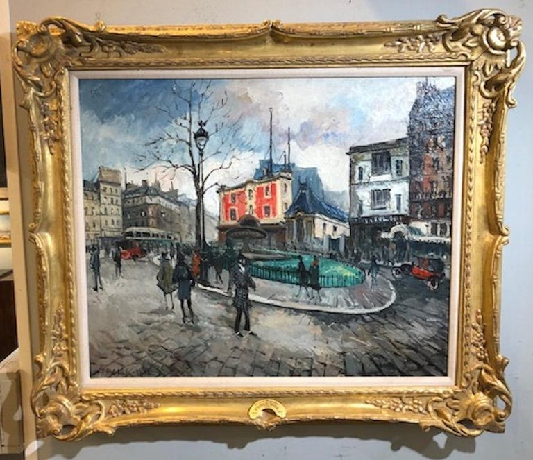 Frank Will Landscape Painting - Place Pigalle