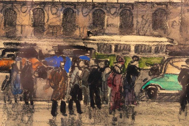 Frank Will, Watercolor, La Place de l'Opéra in Paris, circa 1930s For Sale 1