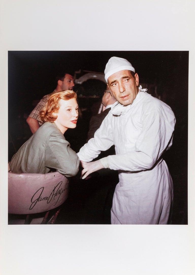 Humphrey Bogart on set of