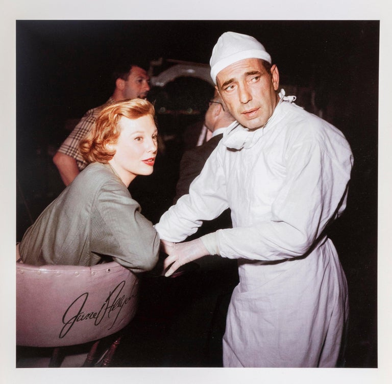 "Frank Worth Color Photograph - Humphrey Bogart on set of ""Battle Circus"""