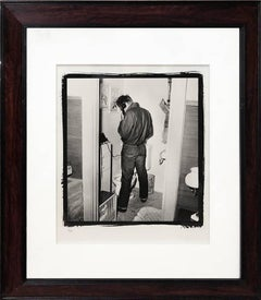 James Dean in Hotel Bath, Platinum print 1954