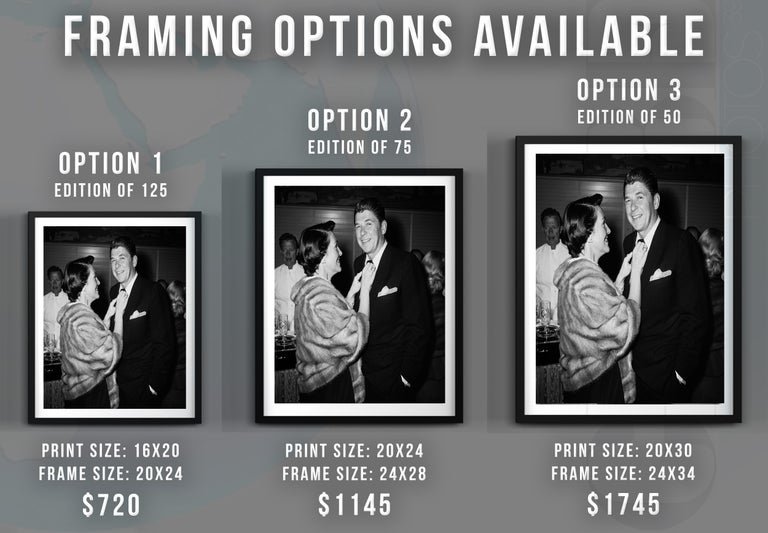 Nancy and Ronald Reagan Fine Art Print - Black Black and White Photograph by Frank Worth