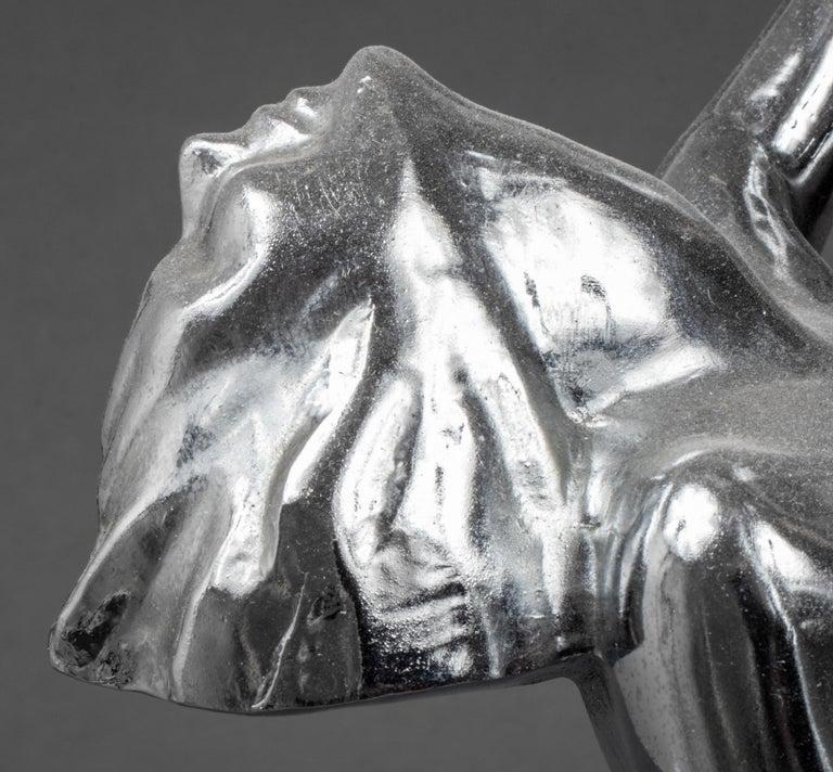 Frankart Art Deco Cast Metal Figural Card Holder Stand For Sale 2