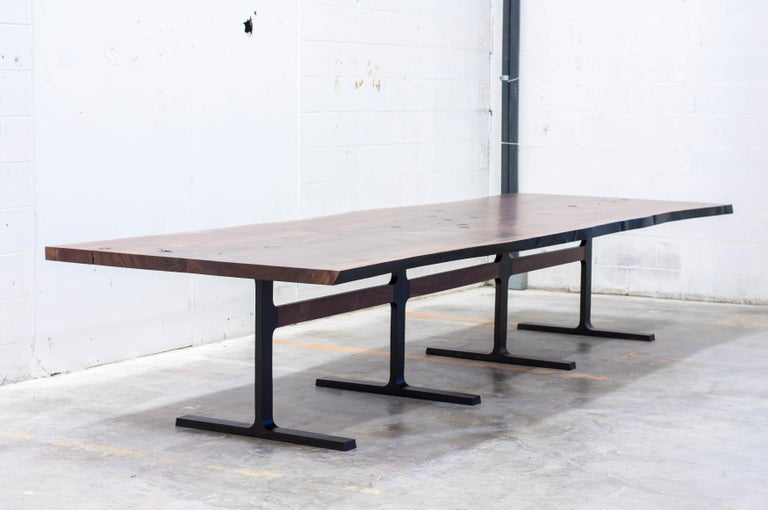 Unapologetic. 2x Double ender centre leg posts, huge tolerances in engineering.  The Shaker table is the first award winning design from the studio at Jeff Martin Joinery. It examines the interface between cast bronze and solid wood using bronze