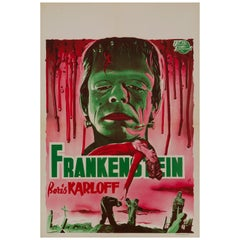 'Frankenstein' Original Vintage Movie Poster, Belgian, 1950s