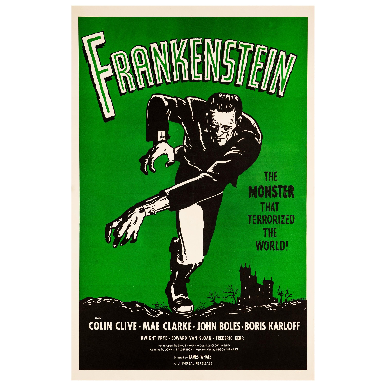 'Frankenstein' Original Vintage US One Sheet Movie Poster, 1960s
