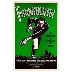 'Frankenstein' Original Vintage US One Sheet Movie Poster, 1960s