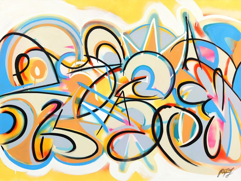 Frankie Alfonso Abstract Painting - Cellular Function