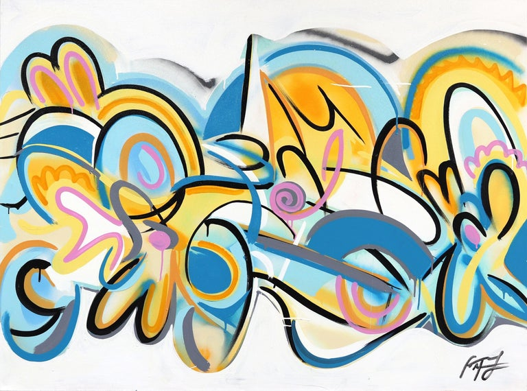 Frankie Alfonso Abstract Painting - Sunset Beach
