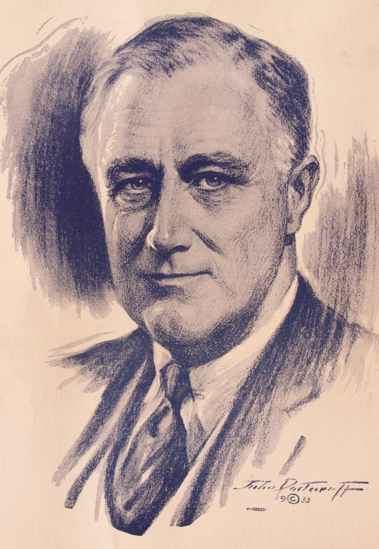 Franklin D. Roosevelt 1936 Campaign Poster In Good Condition For Sale In York County, PA