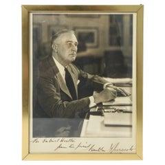 Franklin D. Roosevelt Autograph Photograph to Radio Journalist Gabriel Heatter