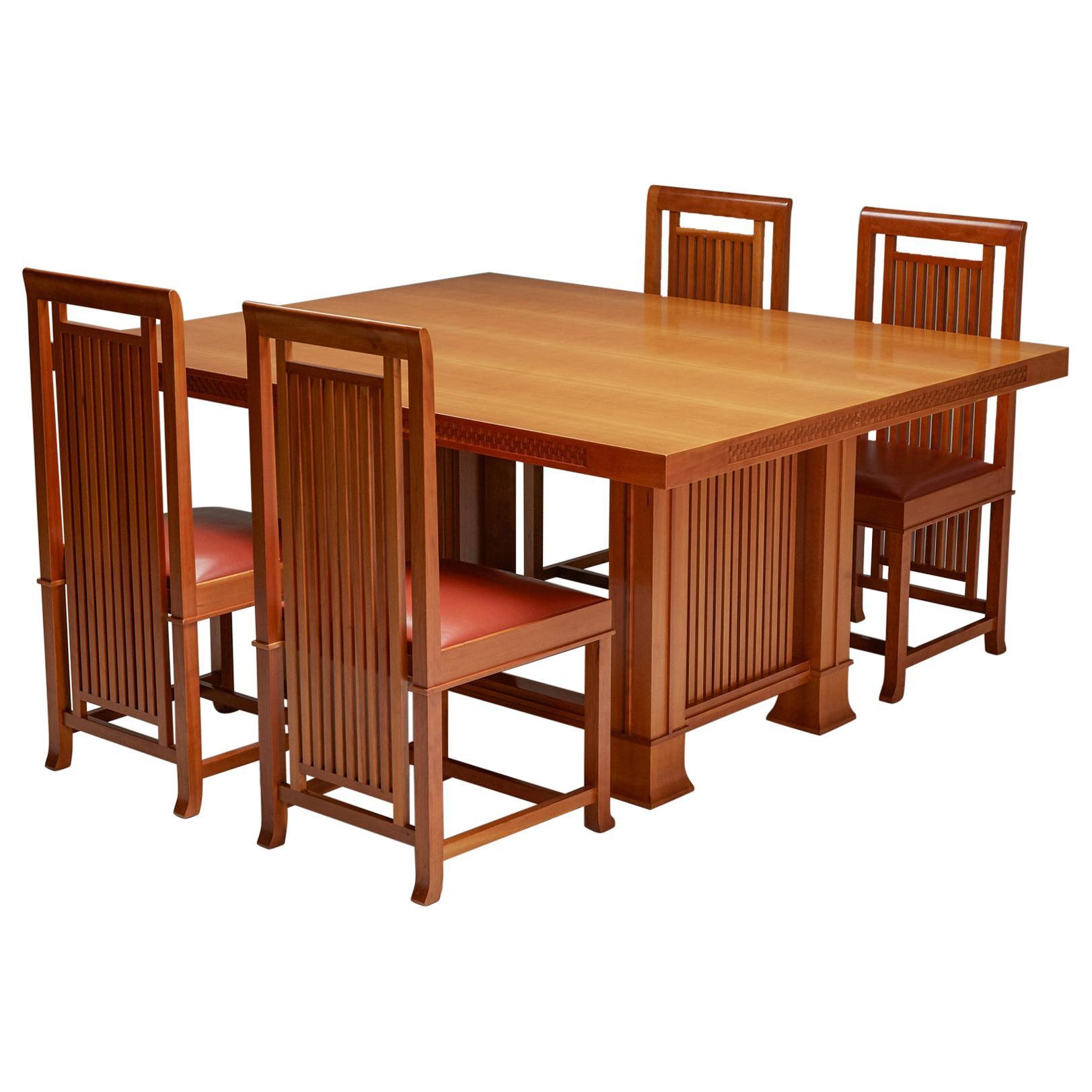 Franklin Lloyd Wright Cassina Dining Room Set