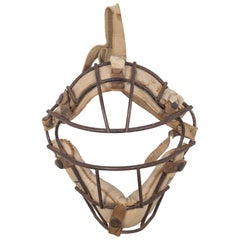 Franklin Steel and Leather Catcher's Mask, c.1940