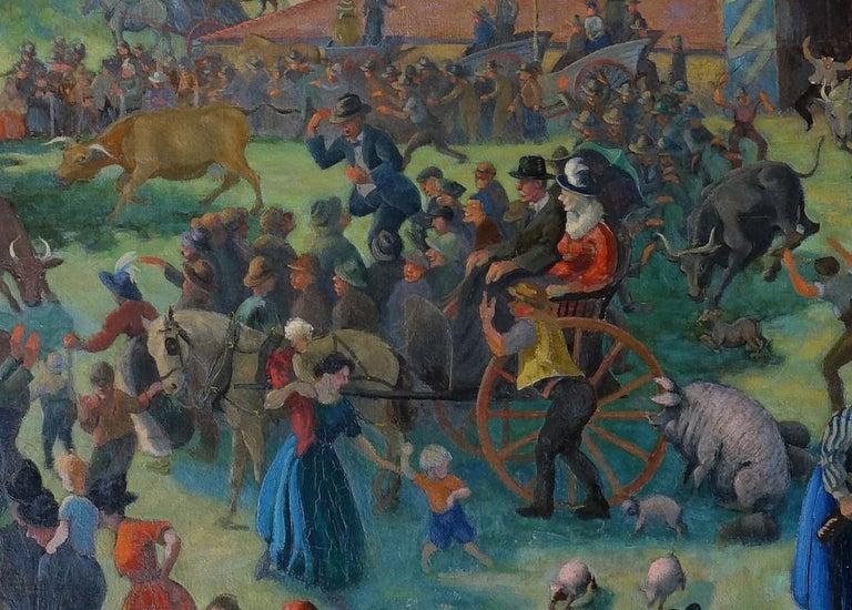 Auction - British 20s Slade School Art Deco Australian landscape oil painting 3