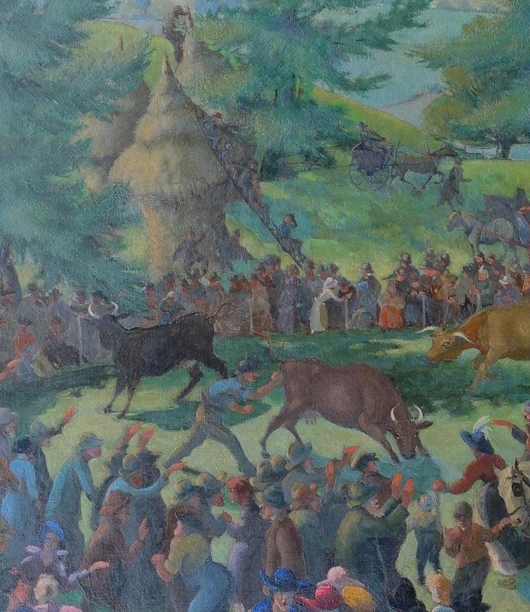 Auction - British 20s Slade School Art Deco Australian landscape oil painting 4