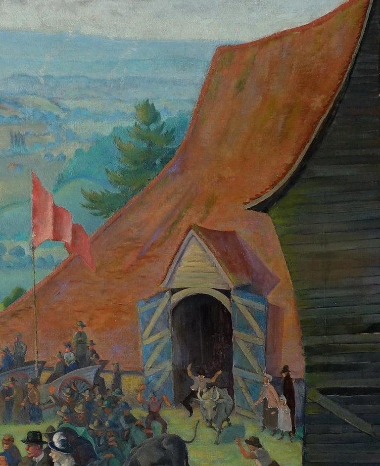 Auction - British 20s Slade School Art Deco Australian landscape oil painting 5