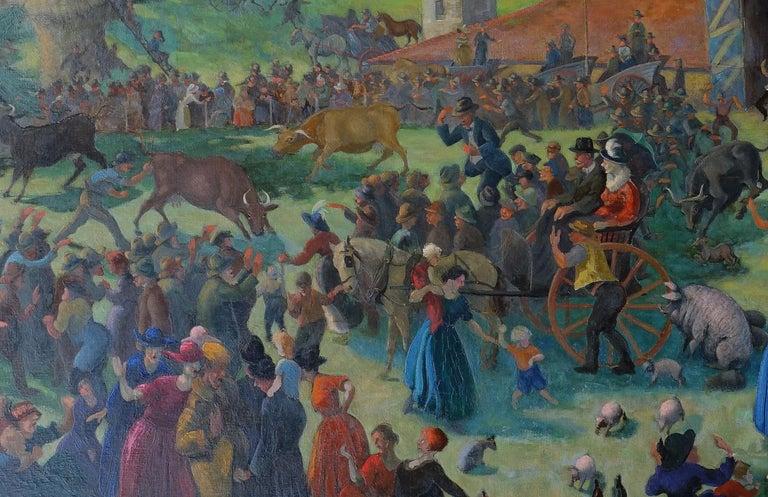 Auction - British 20s Slade School Art Deco Australian landscape oil painting 6