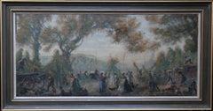 Summer Fair - British art twenties Slade School oil painting village landscape