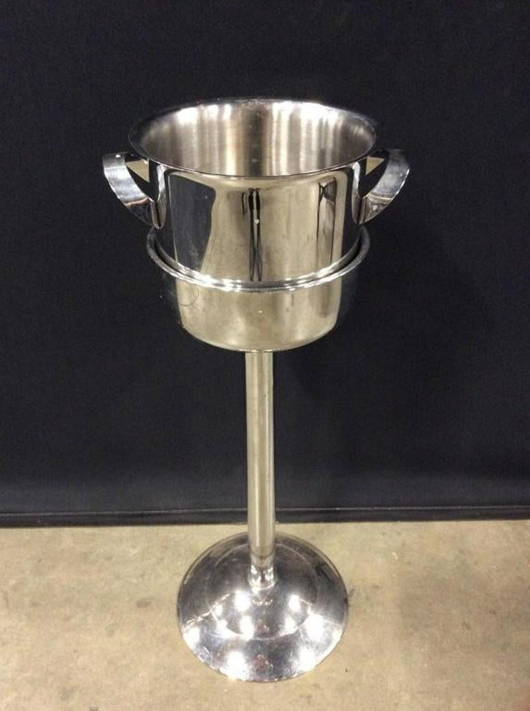 20th Century Franmara Champagne Ice Bucket On Stand For Sale