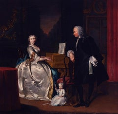 A portrait of Dr Cornelis and Mrs Henriette Hageman and their son