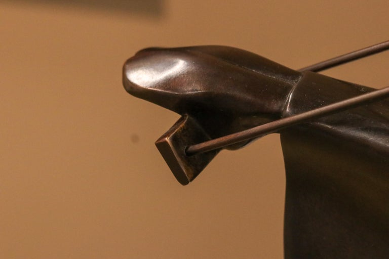 Swinging III - 21st Century Contemporary Bronze Sculpture of a Woman On A Swing For Sale 6