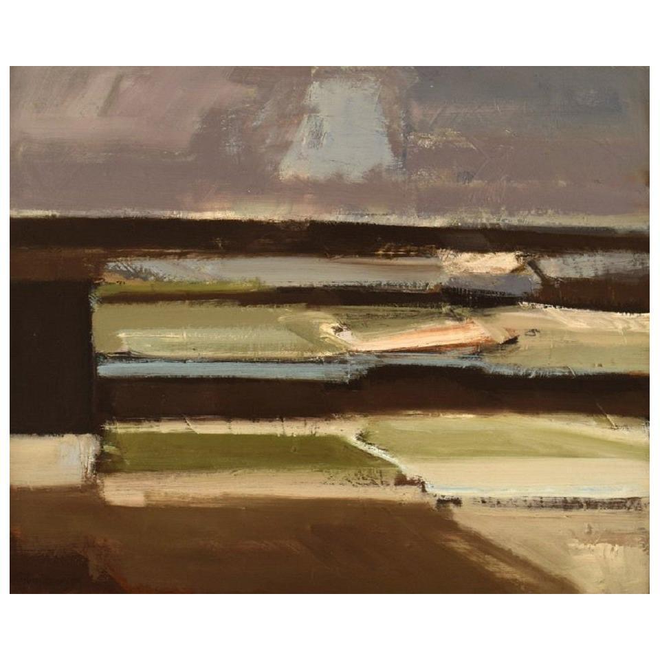 Frans Vester Pedersen '1934-1972', Modernist Landscape, Oil on Canvas